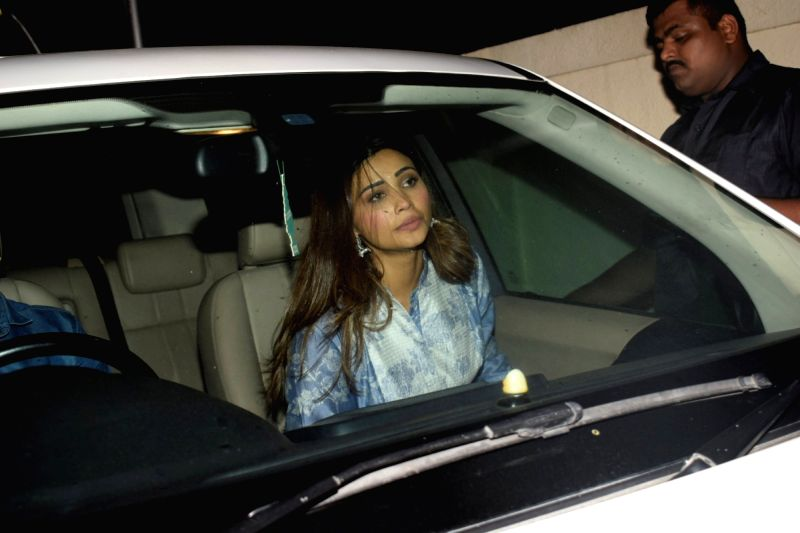"""Actress Daisy Shah at the special screening of her upcoming film """"Race 3"""" in Mumbai on June 12, 2018. - Daisy Shah"""