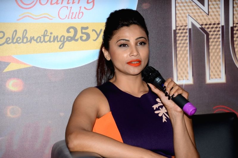 Actress Daisy Shah during the announcement of Country Club's New Year celebrations in Mumbai on Oct 28, 2015. - Daisy Shah