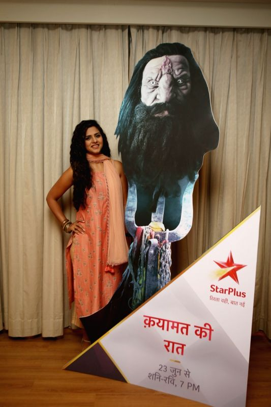 """Actress Daljeet Kaur during a media interaction to promote her upcoming show """"Qayamat Ki Raat"""" in Mumbai on June 8, 2018. - Daljeet Kaur"""