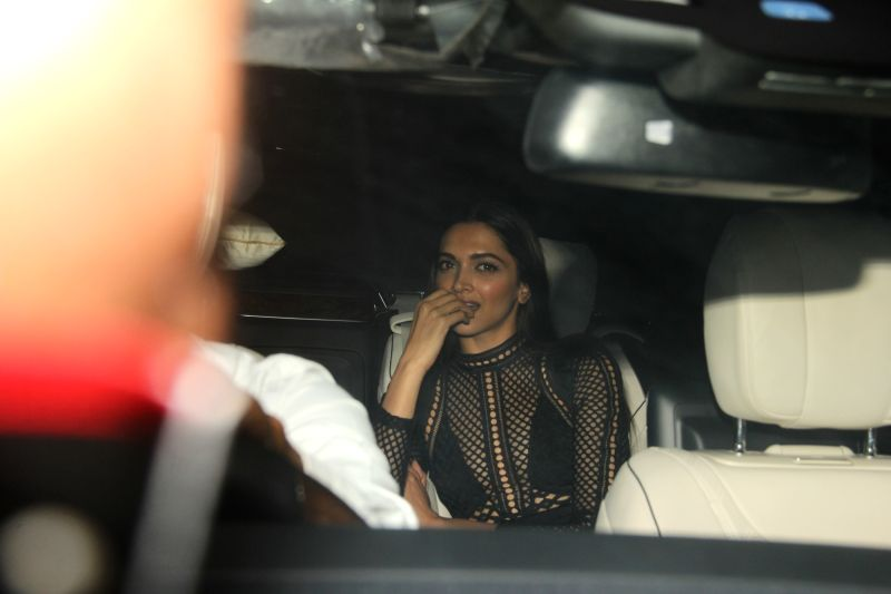 Actress Deepika Padukone during filmmaker Karan Johar`s 45th birthday celebration party, in Mumbai on May 25, 2017. - Deepika Padukone