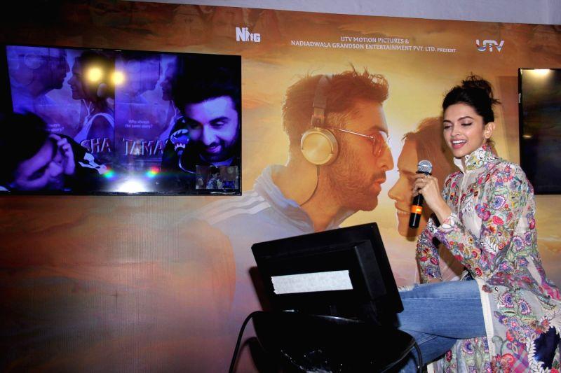 Actress Deepika Padukone during the celebration of music of film Tamasha, in Mumbai on Oct. 31, 2015. - Deepika Padukone