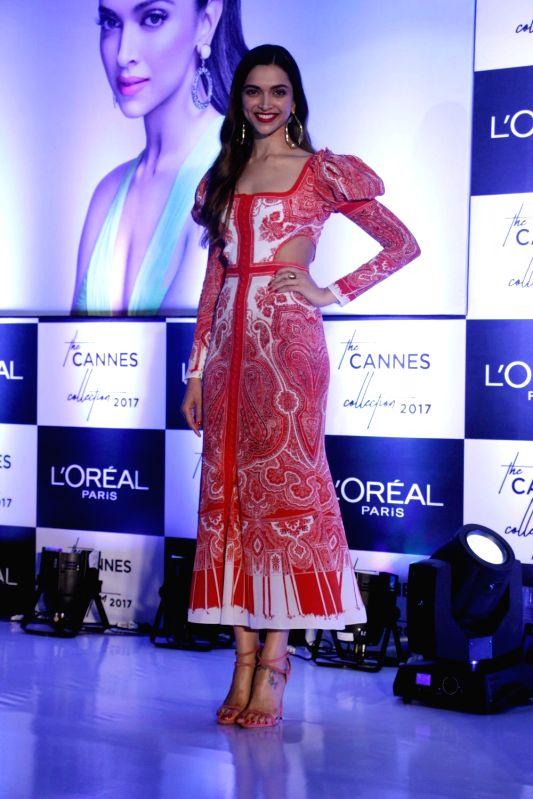 Actress Deepika Padukone during the unveiling of Loral Paris Cannes Collection 2017 in Mumbai on May 5, 2017. - Deepika Padukone