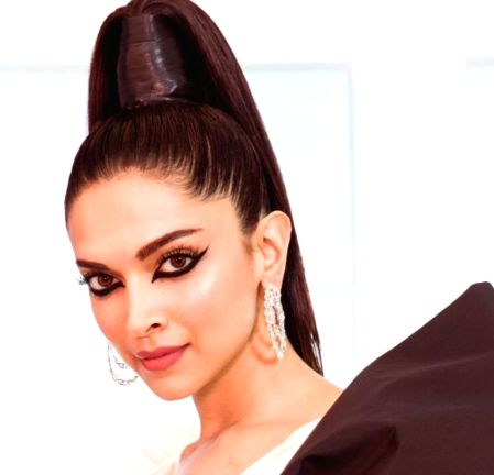 Cannes: Actress Deepika Padukone goes dramatic with big bow at the 2019 Cannes Film Festival, in Cannes, France, on May 16, 2019.