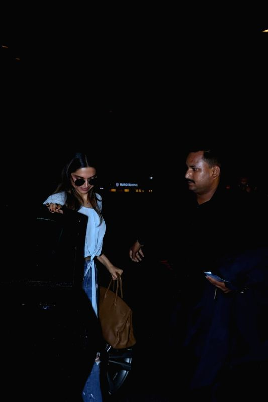 Actress Deepika Padukone spotted at Airport in Mumbai on June 8, 2017. - Deepika Padukone