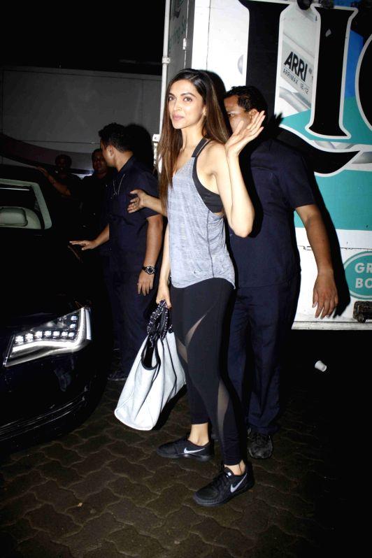 Actress Deepika Padukone spotted at Mehboob Studio, in Mumbai, on July 29, 2016. - Deepika Padukone