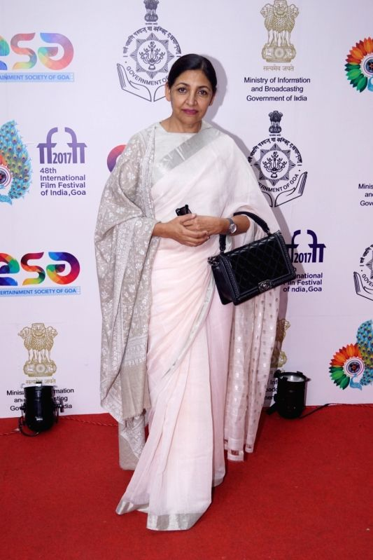 """Actress Deepti Naval at the Indian Premier of the film """"The Boy with the Topknot"""" during the 48th International Film Festival of India (IFFI-2017) in Panaji on Nov 25, 2017. - Deepti Naval"""