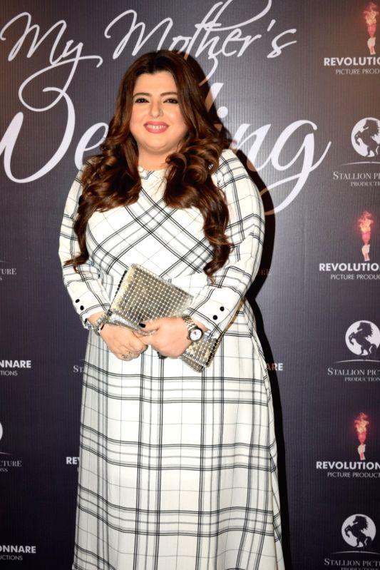 "Actress Delnaaz Irani at the screening of film ""My Mother's Wedding"" in Mumbai on Jan 28, 2018. - Delnaaz Irani"