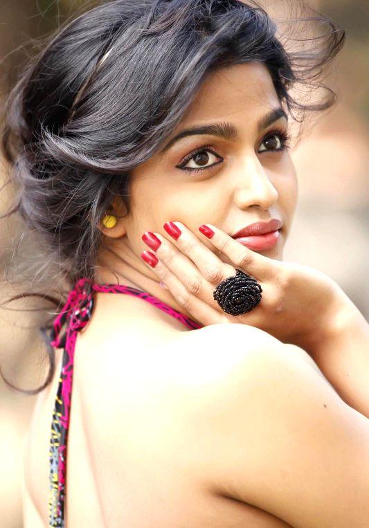 Actress Dhanshika during a photo shoot.