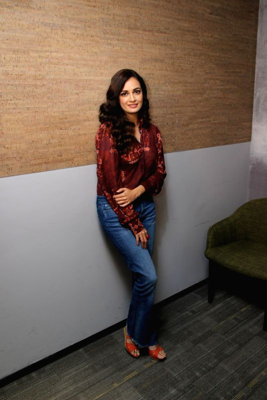 Actress Dia Mirza at Facebook office  for actress Sonali Bendre book club in Mumbai on Aug 8, 2018. - Dia Mirza