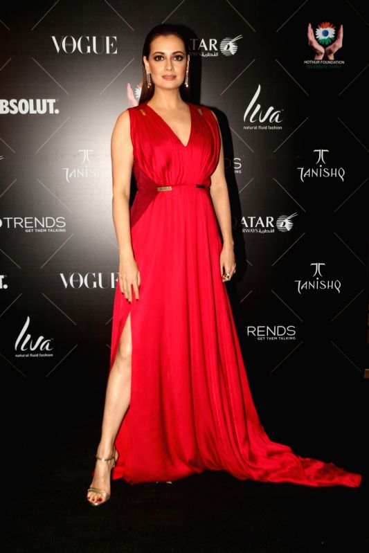 "Actress Dia Mirza at the red carpet of ""Vogue Beauty Awards"" in Mumbai on July 31, 2018. - Dia Mirza"