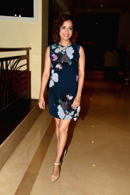Actress Dia Mirza attends Gallerie Angel Arts curated work `In An Artist's Mind` exhibition in Mumbai on August 14, 2015. - Dia Mirza