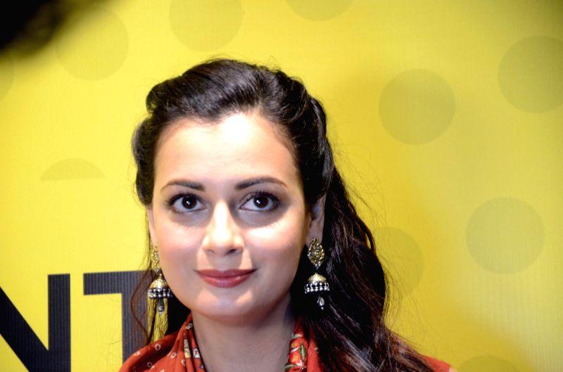 Actress Dia Mirza during a content creation festival at Nehru Center, Worli in Mumbai on Sept 30, 2017. - Dia Mirza
