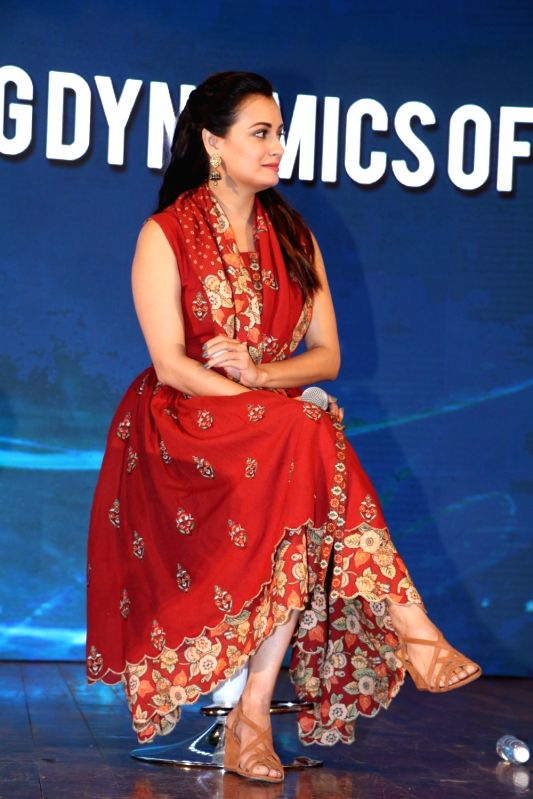 Actress Dia Mirza during a content creation festival in Mumbai on Sept 30, 2017. - Dia Mirza