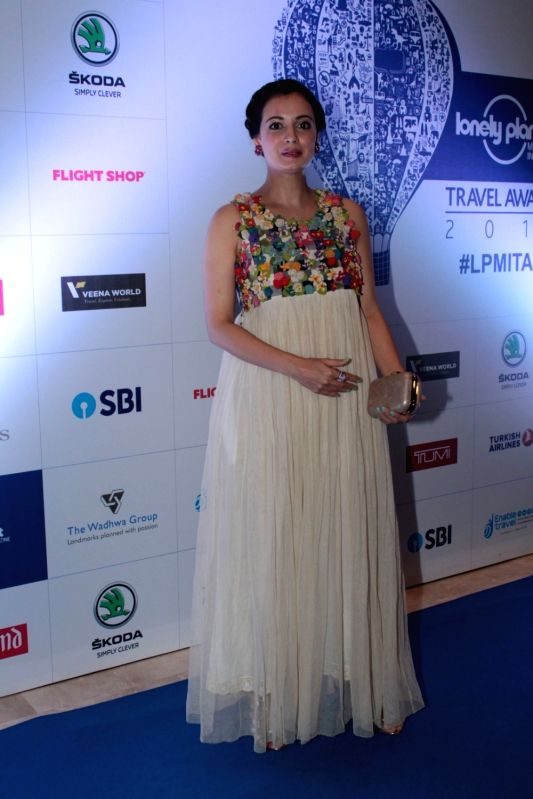 Actress Dia Mirza during The 6th Lonely Planet Magazine India Travel Awards 2017, in Mumbai on May 25, 2017. - Dia Mirza
