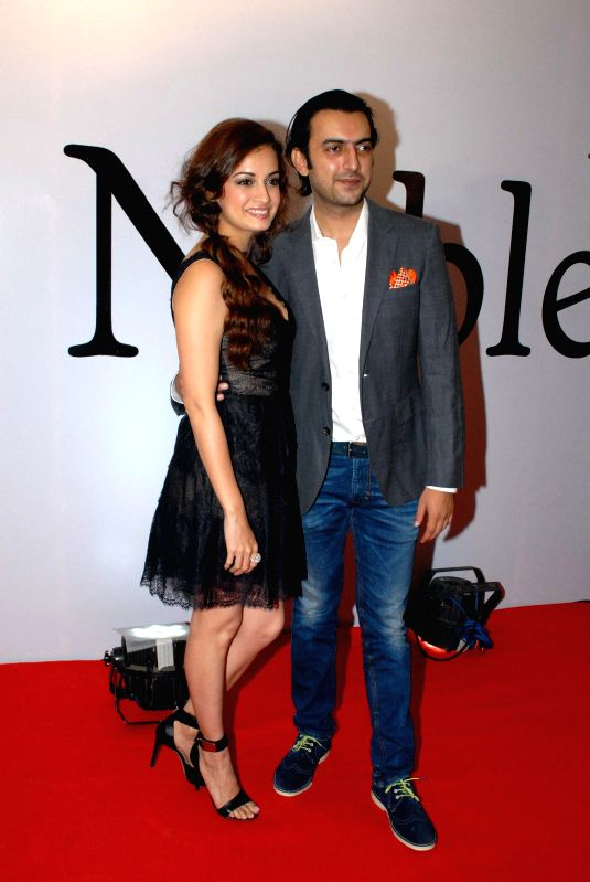 Actress Dia Mirza during the launch of the brand Noble Faith in Mumbai on Aug 14, 2014. - Dia Mirza