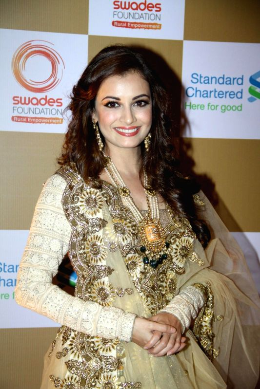 Actress Dia Mirza during the launch of Van Heusen Spring Summer 2014 limited edition collection in Mumbai, on April 10, 2014. - Dia Mirza
