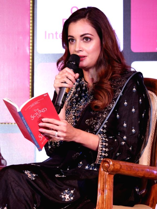 """Actress Dia Mirza during the release of the book """"The Sound of Silence"""" authored by Akanksha G Mittal, in New Delhi on Sept 5, 2018."""