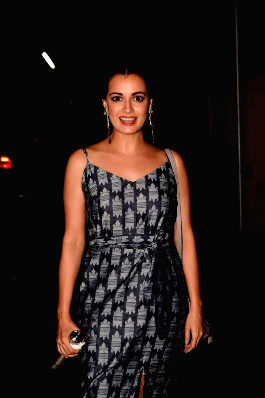 Actress Dia Mirza seen at a cinema theatre in Juhu, Mumbai on July 13, 2018. - Dia Mirza