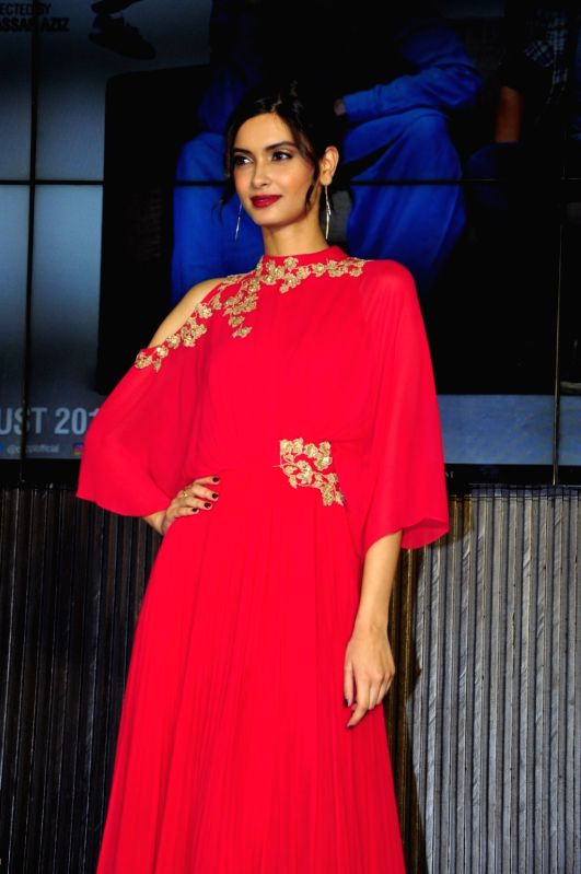 Actress Diana Penty during the music launch of film Happy Bhag Jayegi, in Mumbai on Aug 2, 2016. - Diana Penty