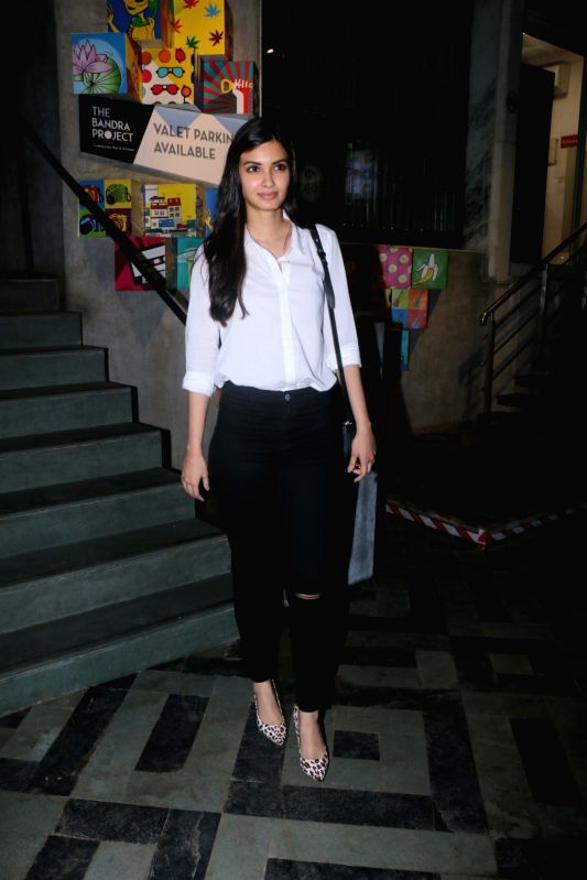 Actress Diana Penty seen at a restaurant in Mumbai on Feb 1, 2018. - Diana Penty