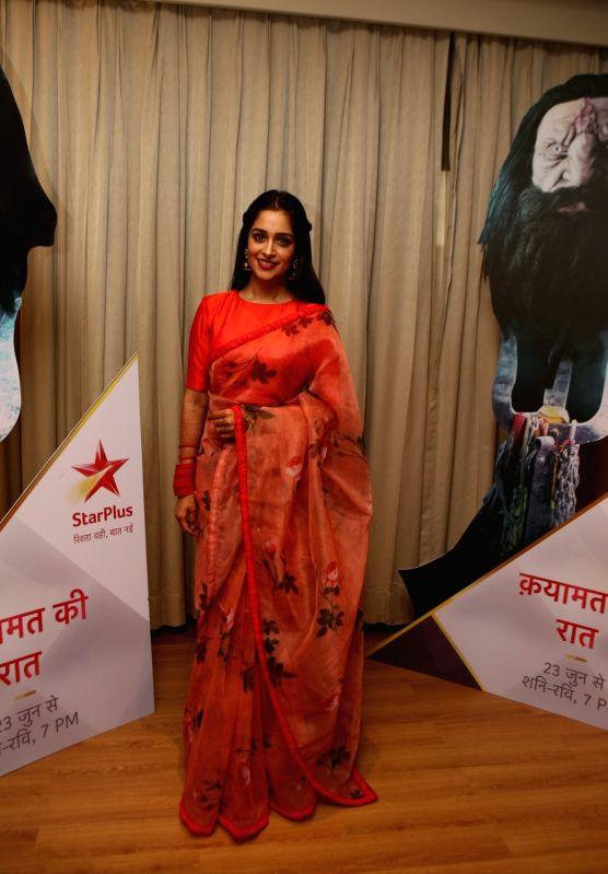 """Actress Dipika Kakar during a media interaction to promote her upcoming show """"Qayamat Ki Raat"""" in Mumbai on June 8, 2018. - Dipika Kakar"""