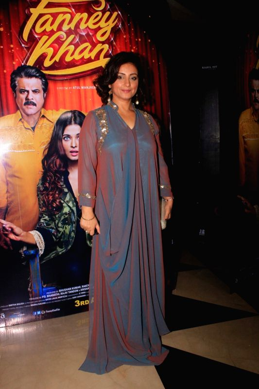 "Actress Divya Dutta at the special screening of her upcoming film ""Fanney Khan"" in Mumbai on July 31, 2018. - Divya Dutta and Fanney Khan"