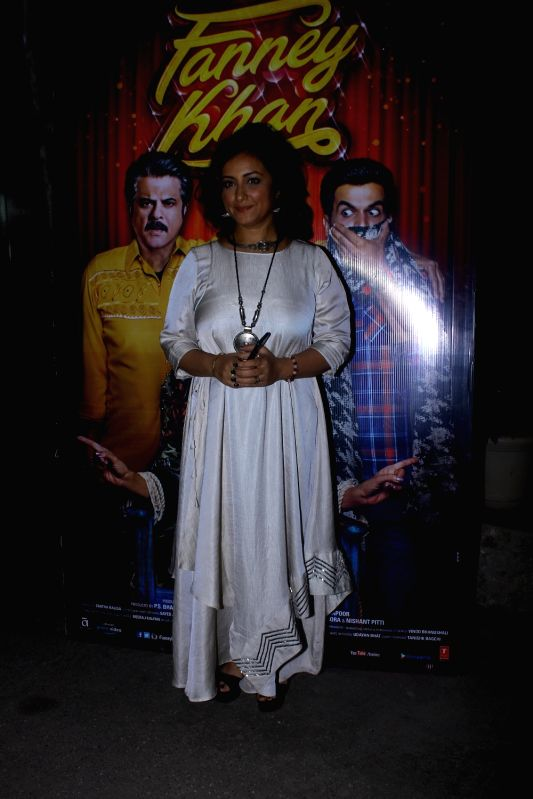 "Actress Divya Dutta at the special screening of upcoming film ""Fanney Khan"", in Mumbai on Aug 1, 2018. - Divya Dutta and Fanney Khan"