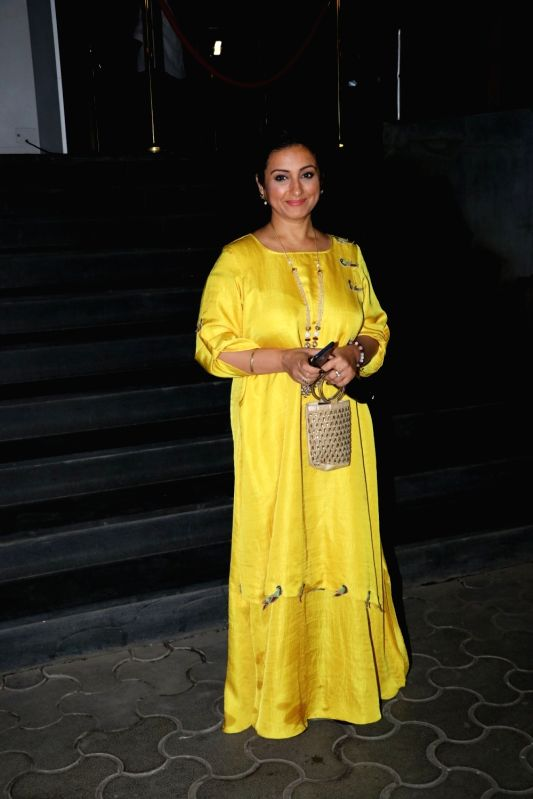 "Actress Divya Dutta at the special screening of film ""Mulk"" in Mumbai on Aug 2, 2018. - Divya Dutta"