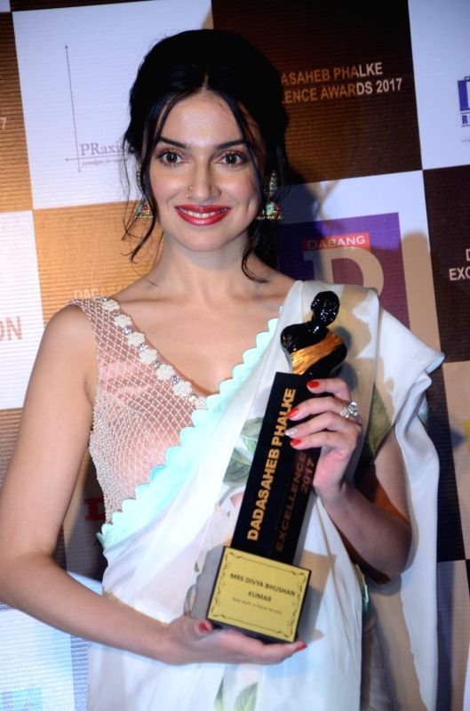 Actress Divya Khosla Kumar at the Dadasaheb Phalke award function in Mumbai on April 21, 2017. - Divya Khosla Kumar