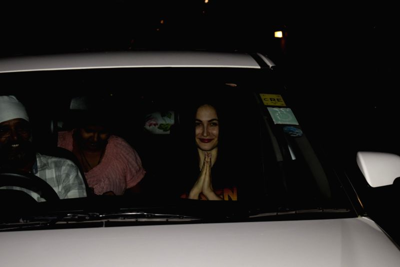 Actress Elli AvrRam seen at a salon in Juhu, Mumbai on July 11, 2018. - Elli Avr
