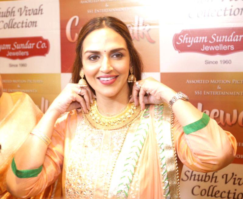 Actress Esha Deol unveils wedding jewellery collection in Kolkata, on July 19, 2018. - Esha Deol