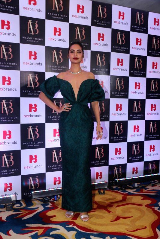 Actress Esha Gupta at the Brand Vision Summit and Awards in Mumbai on Jan 30, 2018. - Esha Gupta