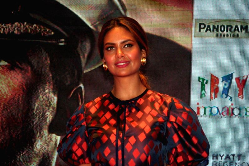 "Actress Esha Gupta during the promotion of her upcoming film ""Rustom"" in Kolkata, on Aug 4, 2016. - Esha Gupta"