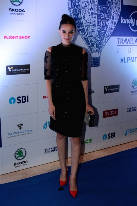 Actress Evelyn Sharma during The 6th Lonely Planet Magazine India Travel Awards 2017, in Mumbai on May 25, 2017. - Evelyn Sharma
