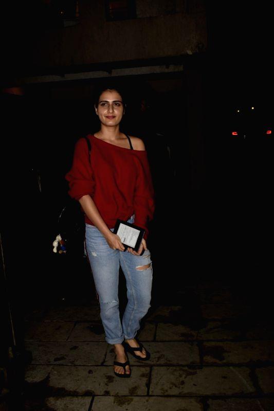 Actress Fatima Sana Shaikh seen at a salon in Juhu, Mumbai on July 11, 2018. - Fatima Sana Shaikh