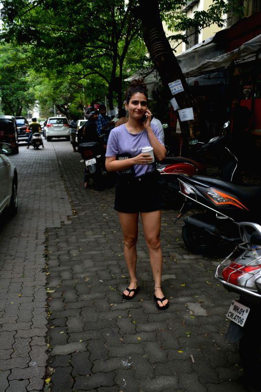 Actress Fatima Sana Shaikh seen at Mumbai's Bandra on July 12, 2018. - Fatima Sana Shaikh