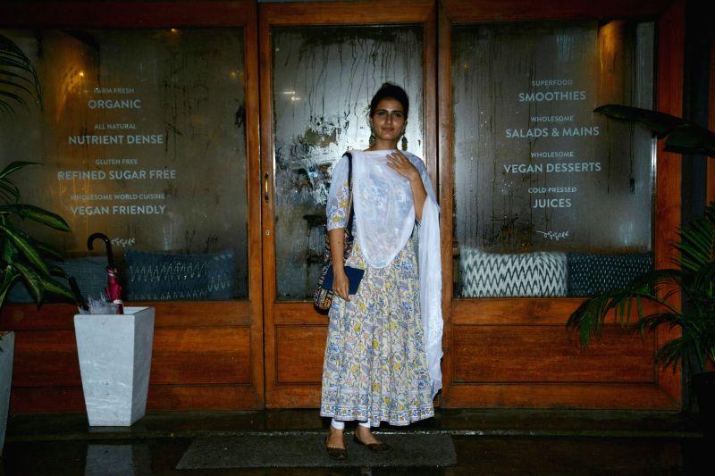 Actress Fatima Sana Shaikh seen at Mumbai's Bandra on July 15, 2018. - Fatima Sana Shaikh