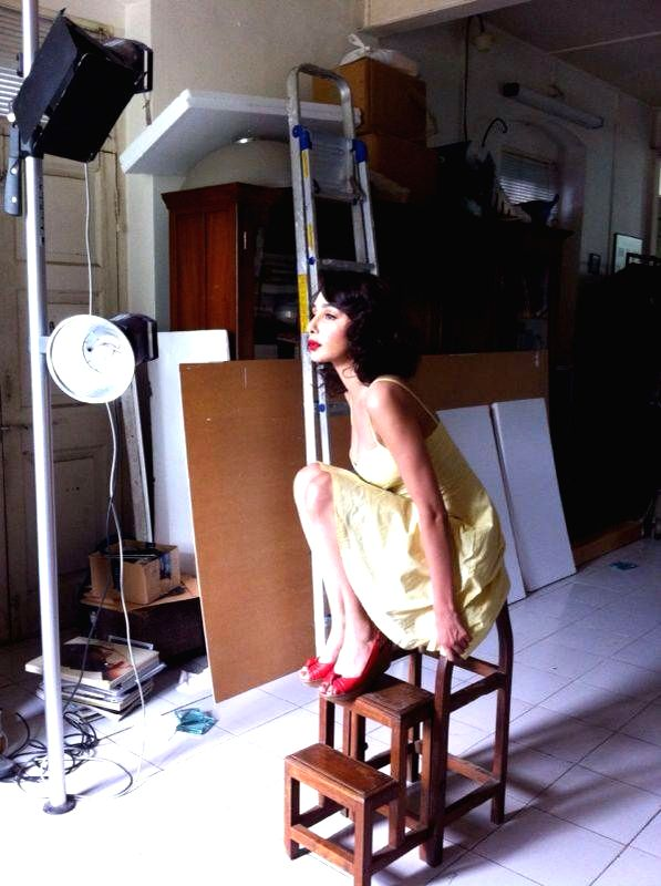 Actress Feryna Wazheir during the photo shoot in Mumbai.
