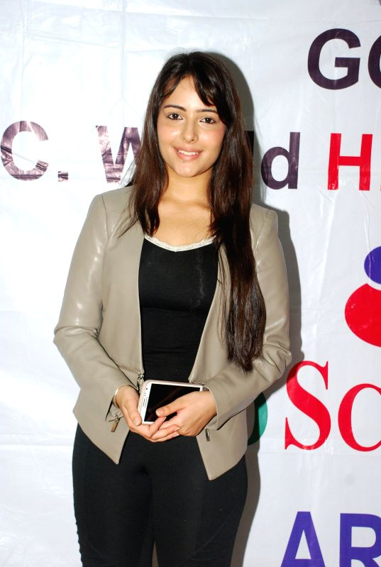 Actress for AIDS awareness while celebrating World AIDS Day in Mumbai on Dec 1, 2014.