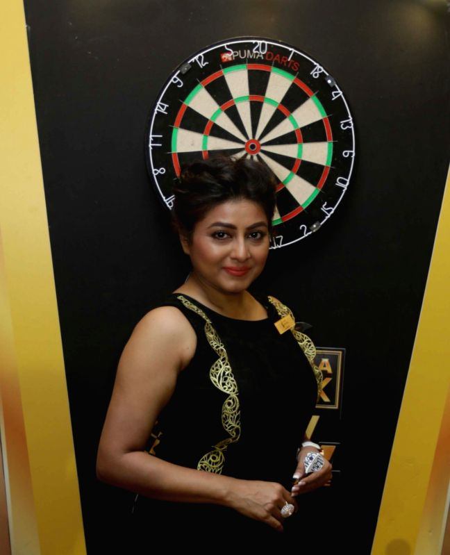 Actress Gargi Roy Chowdhury during  Darts Premier League players' auction in Kolkata, on May 12, 2016. - Gargi Roy Chowdhury