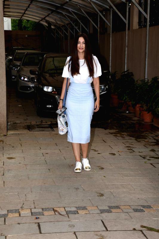 Actress Gauahar Khan seen at Mumbai's Juhu on July 23, 2018. - Gauahar Khan