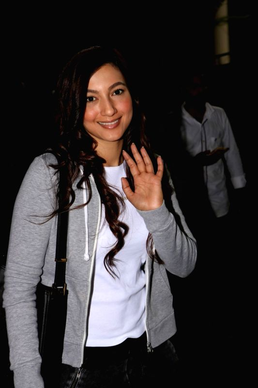 Actress Gauhar Khan were spotted at the Mumbai airport on June 8, 2017. - Gauhar Khan
