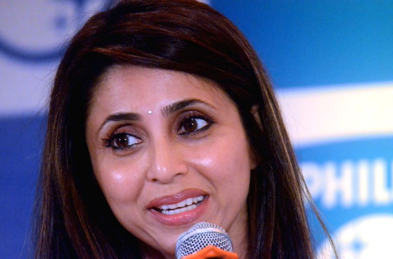 Actress Gautami Kapoor during a Philips press conference in Mumbai, on May 3, 2017. - Gautami Kapoor