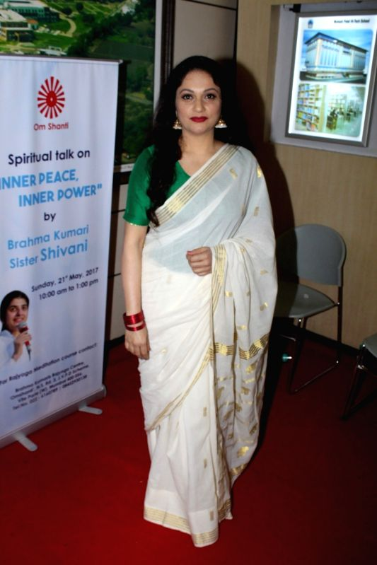 Actress Gracy Singh during the Spiritual Talk and Felicitation on May 21, 2017. - Gracy Singh