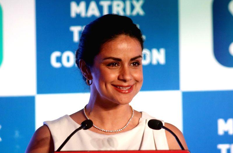 "Actress Gul Panag at the launch of Matrix "" Travel Companion App"" in New Delhi on April 19, 2017. - Gul Panag"