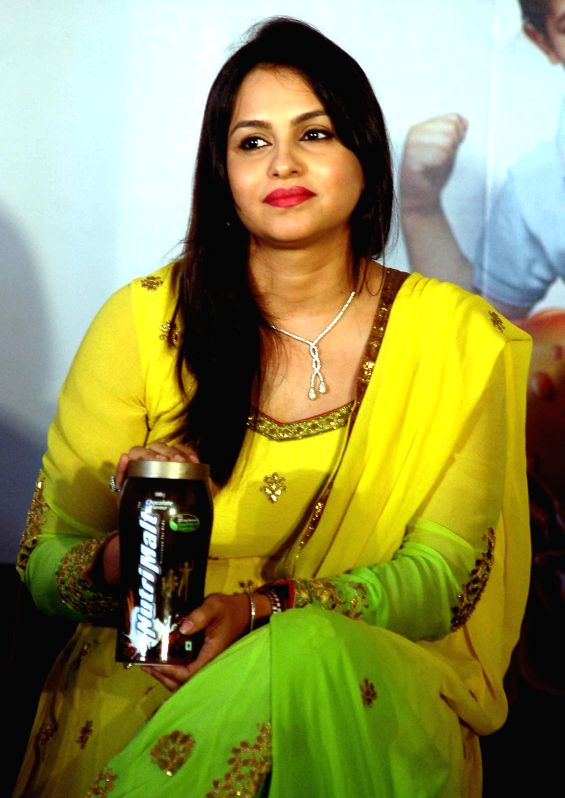 Actress Gurdeep Kohli during a product launch in Kolkata on April 12, 2014.