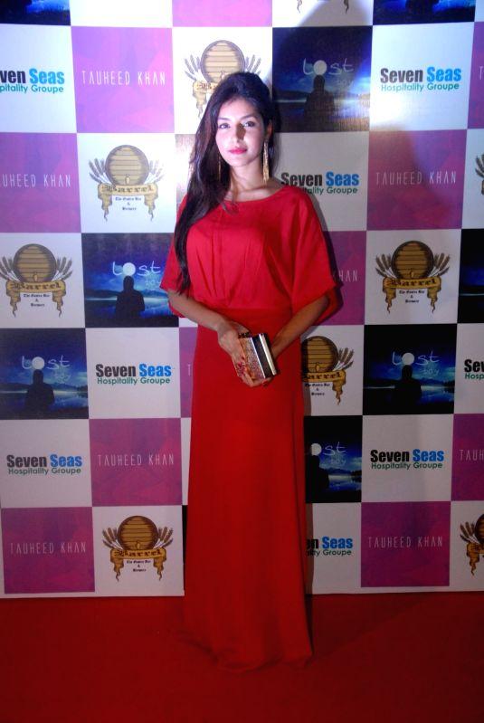 Actress Harshita Gaur during the birthday party of Television producer Vikas Gupta in Mumbai on May 6, 2017. - Harshita Gaur and Vikas Gupta