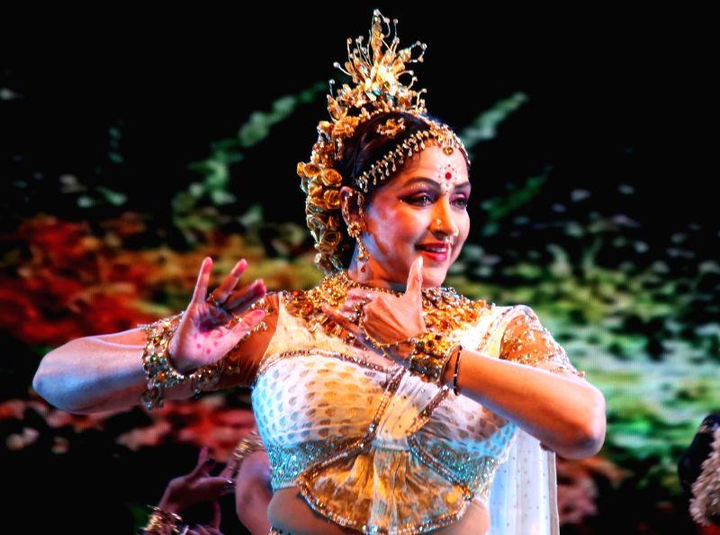 "Actress Hema Malini performs during ""Draupadi Nritya Natika"" in Nagpur, on Jan 28, 2018. - Hema Malini"