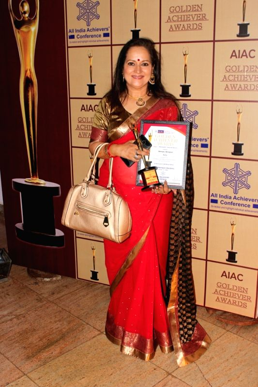 Actress Himani Shivpuri during the AIAC golden achiver awards in Mumbai, on May 30, 2017. - Himani Shivpuri