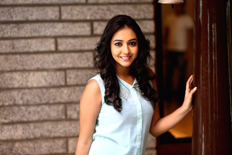 Actress Hitha Chandrashekar during a photoshoot.